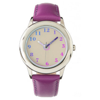 Children's_Pink_Blue_Numbers Watch