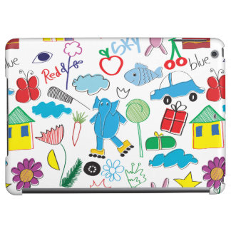 Children's Play Pattern - Elephant, Playtime iPad Air Cover