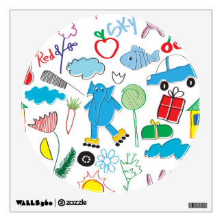 Children's Play Pattern - Elephant, Playtime Wall Sticker