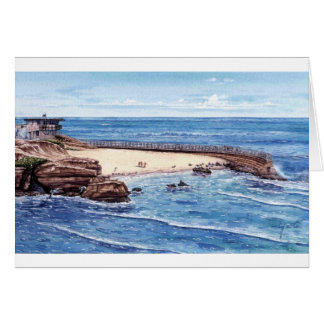 CHILDREN'S POOL WITH SEALSL, LA JOLLA, CALIFORNIA CARD
