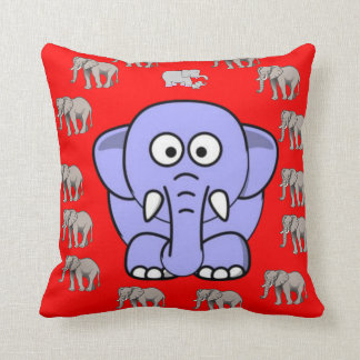 childrens red elephant decorative throw pillow