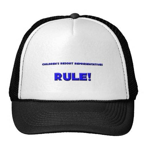Children's Resort Representatives Rule! Mesh Hats