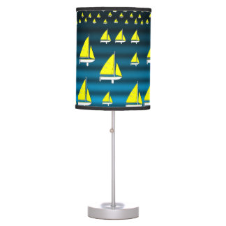 childrens sailboat yellow blue lamp shade