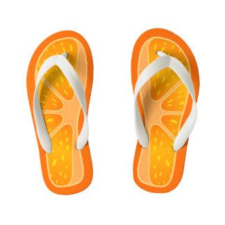 Children's Size Cute and Funny Orange Slice Kid's Flip Flops