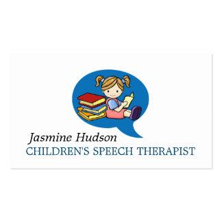 Children's Speech Therapist Counseling Business Card
