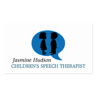 Children's Speech Therapist Counseling Pack Of Standard Business Cards