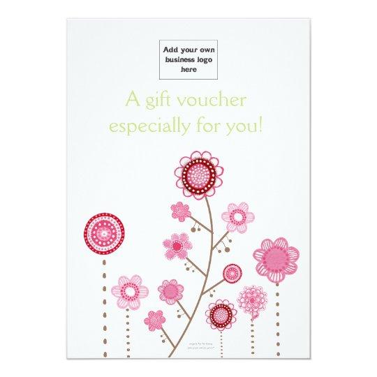 Childrens Store Gift Voucher Certificate Card