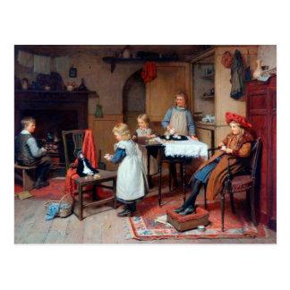 Children's tea postcard