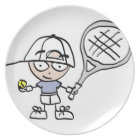Childrens tennis plate