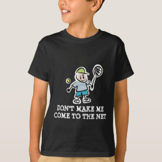 Children's tennis t-shirt with funny quote