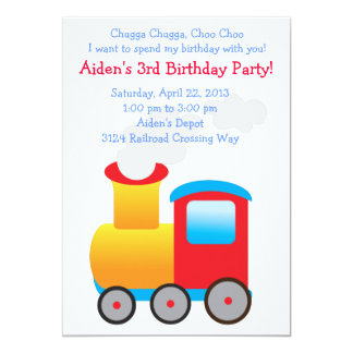 Children's Train Party Invitation