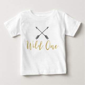 Children's Wild One Arrows Faux Gold Foil Shirt