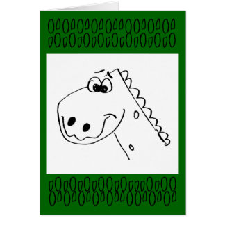 Childs 3rd Birthday Dinosaur (color me) Greeting Card