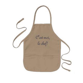 """Child's apron - """"C'est moi, le chef!"""""""
