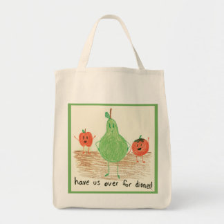 Child's Art, Green Grocery Tote Bag