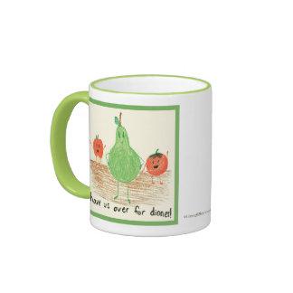 Child's Art, Green Ringer Coffee Mug