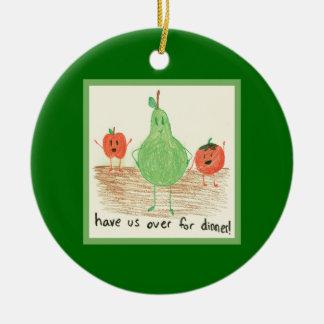 Child's Art, Green Christmas Ornament