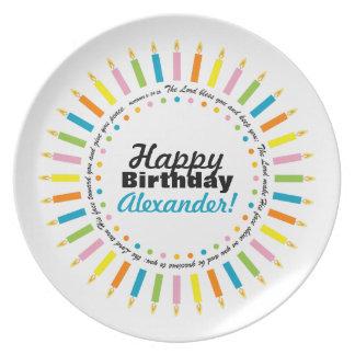 child's BIRTHDAY BLESSING birthday plate 1