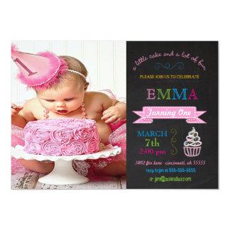 Child's Chalkboard Custom Birthday Party Invitatio Card