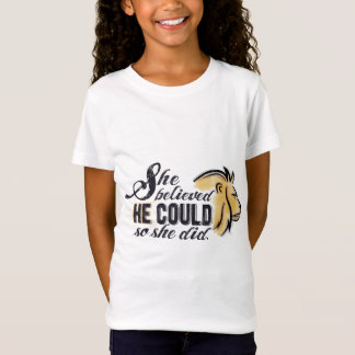 Child's Christian encouraging shirt - His strength