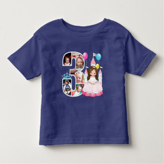 Childs customised photo number T - shirt