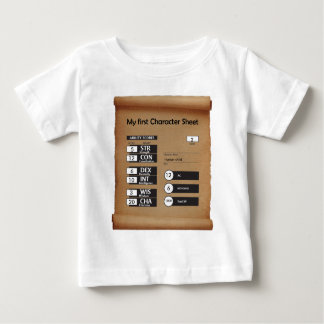 Child's first Character Sheet (age 2) Baby T-Shirt