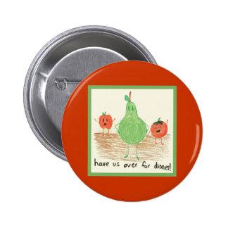 Child's Food Art Pin