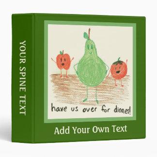 Child's Food Art, Green Vinyl Binders