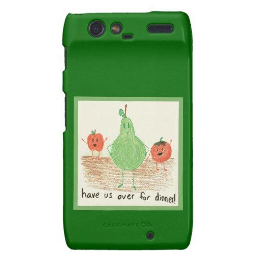 Child's Food Art, Green Motorola Droid RAZR Case