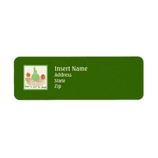 Child's Food Art, Green Return Address Label