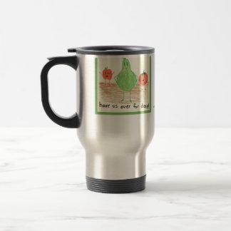 Child's Food Art, Green Mugs