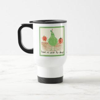 Child's Food Art, Green Coffee Mugs