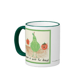 Child's Food Art, Green Mug