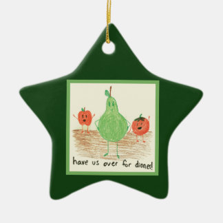 Child's Food Art, Green Christmas Tree Ornaments
