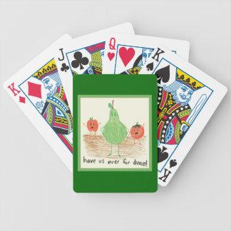 Child's Food Art, Green Poker Deck