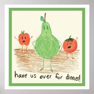 Child's Food Art, Green Print