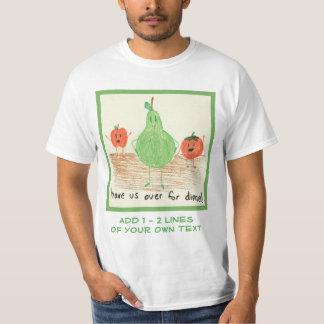 Child's Food Art, Green T-Shirt