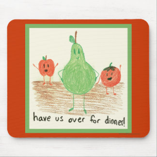 Child's Food Art Mouse Pad