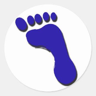 Child's Foot Print Classic Round Sticker