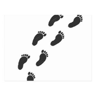 Childs Footprints Postcard