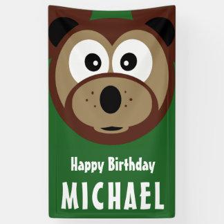 Child's Happy Birthday Bear Banner