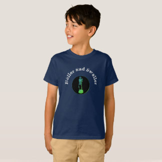 Childs Holler and Swaller with Leaf Cream Print T-Shirt