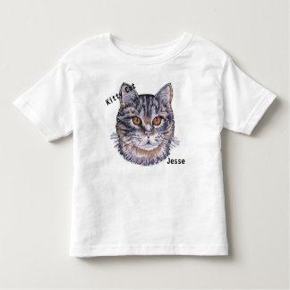 Child's Kitty Cat T shirt Kids YOUR NAME Kitten