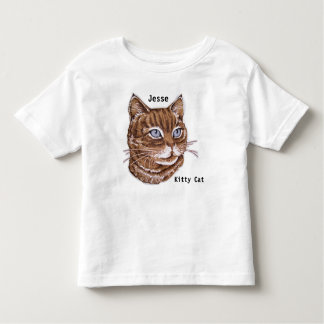 Child's Kitty Cat T shirt YOUR NAME Kitten