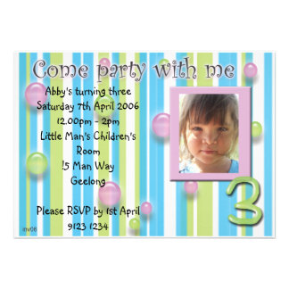 Childs party invitations