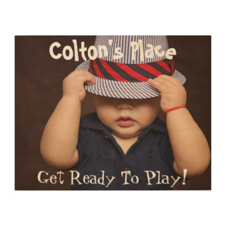 Child's Photo Name & Personalized Text Wood Prints