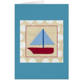 Child's Sailboat by Chariklia Zarris Card