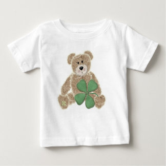 Childs shamrock teddy bear St. Patricks day tee