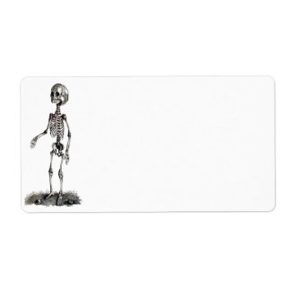 Child's Skeleton Avery Label