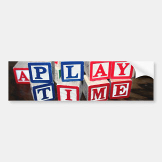 Childs Wooden Toy Blocks Bumper Sticker